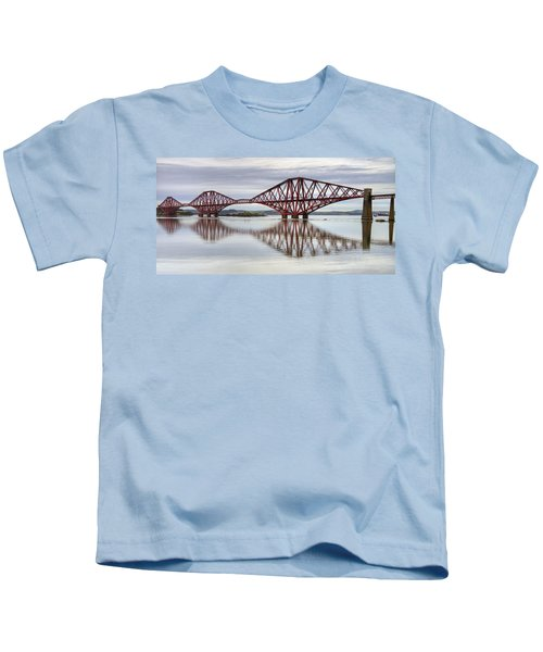 Forth Bridge Reflections Kids T-Shirt