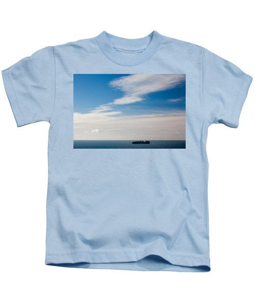 Freighter In The Sea, Point Bonita Kids T-Shirt