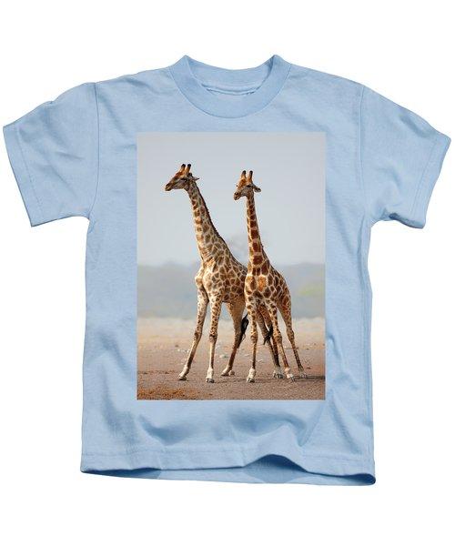 Giraffes Standing Together Kids T-Shirt