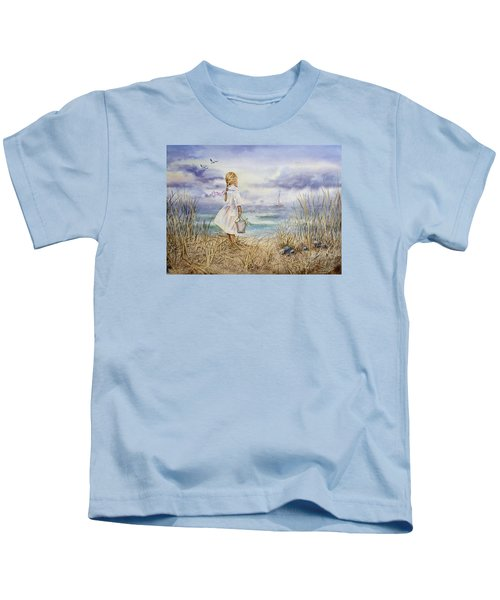 Girl At The Ocean Kids T-Shirt