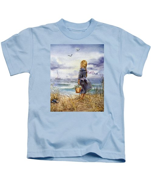 Girl And The Ocean Kids T-Shirt