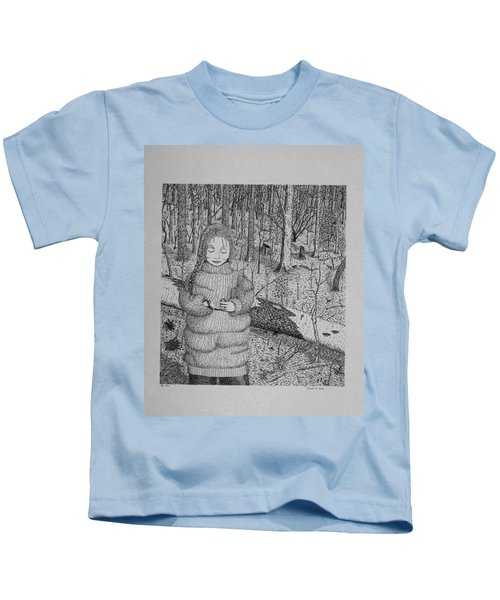 Girl In The Forest Kids T-Shirt