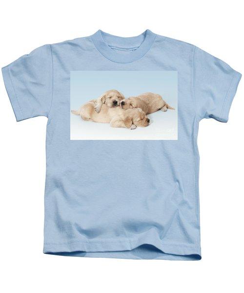 Golden Retriever Puppies Asleep Kids T-Shirt