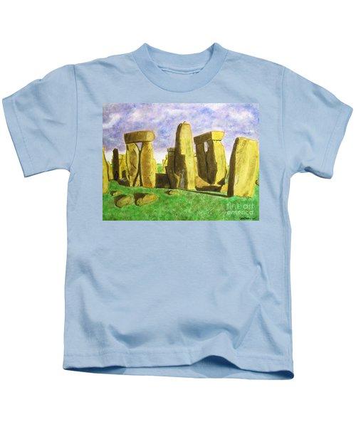 Golden Stonehenge Kids T-Shirt