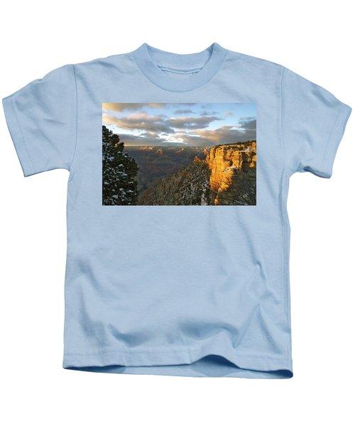 Grand Canyon. Winter Sunset Kids T-Shirt