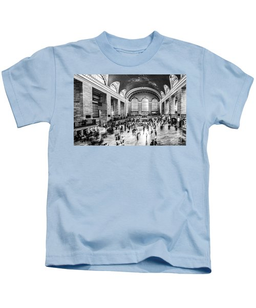 Grand Central Station -pano Bw Kids T-Shirt