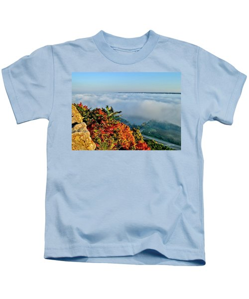 Great River Road Fog Kids T-Shirt