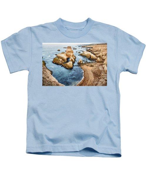 Grotto Rock - Montana De Oro State Park Kids T-Shirt
