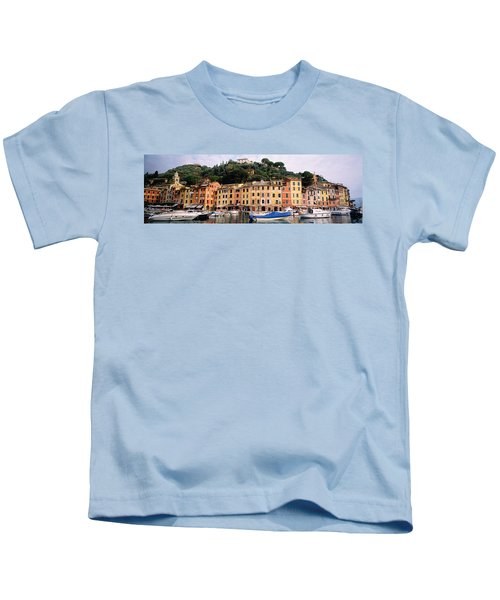 Harbor Houses Portofino Italy Kids T-Shirt