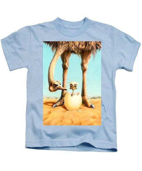 Hello Mum Kids T-Shirt by Andrew Farley
