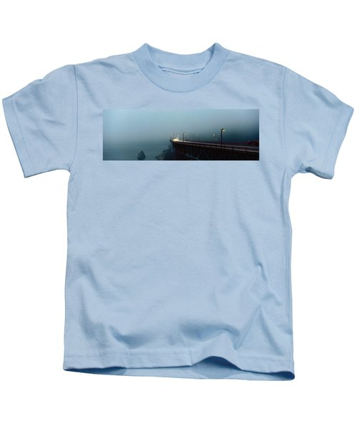 Highway In Fog, San Francisco Kids T-Shirt