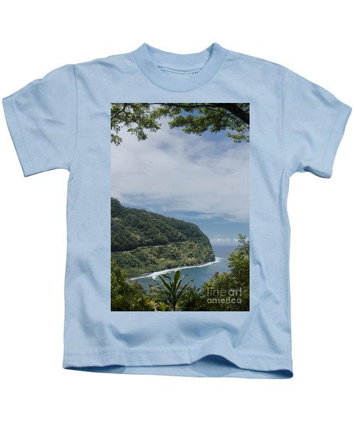 Honomanu Highway To Heaven Road To Hana Maui Hawaii Kids T-Shirt