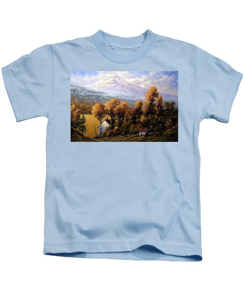 Hood At Late Afternoon Kids T-Shirt