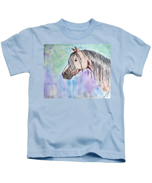 Horsehead In Watercolor And Ink Kids T-Shirt