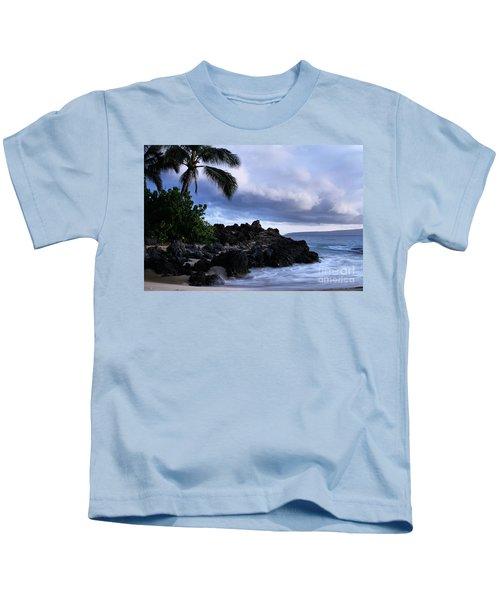 I Ke Kai Hawanawana Eia Kuu Lei Aloha - Paako Beach Maui Hawaii Kids T-Shirt