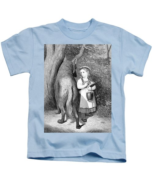 Illustration Of Little Red Riding Hood Kids T-Shirt
