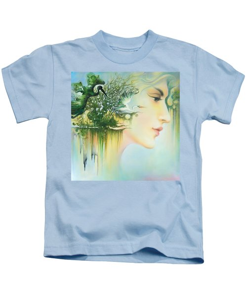 In The Fluter Of Wings-in The Silence Of Thoughts Kids T-Shirt