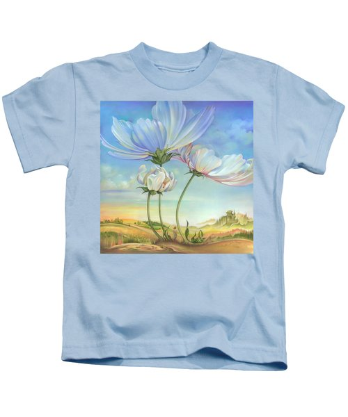 In The Half-shadow Of Wild Flowers Kids T-Shirt
