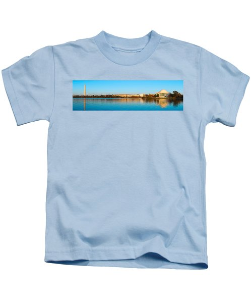 Jefferson Memorial And Washington Kids T-Shirt by Panoramic Images