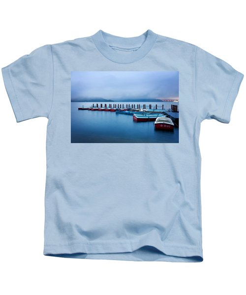 Jetty At Sun Moon Lake Kids T-Shirt