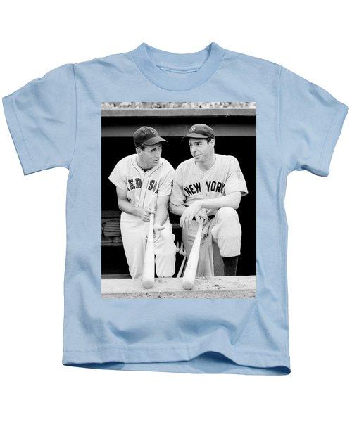 Joe Dimaggio And Ted Williams Kids T-Shirt