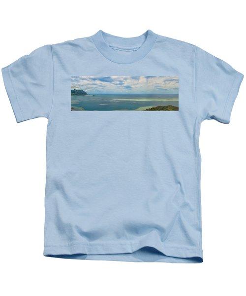Kaneohe Sandbar Panorama Kids T-Shirt