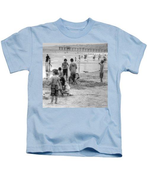 Kids At Beach Kids T-Shirt