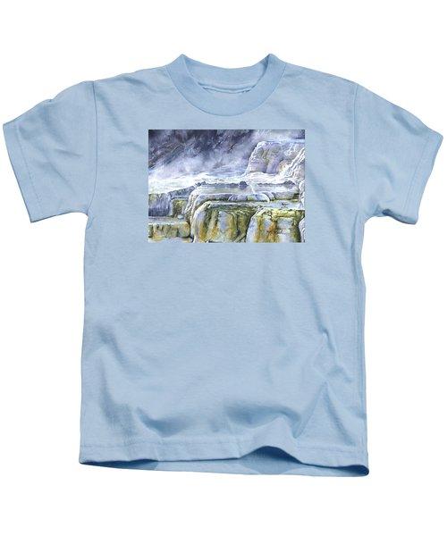 Killdeer Palisades - Mammoth Hot Springs Kids T-Shirt