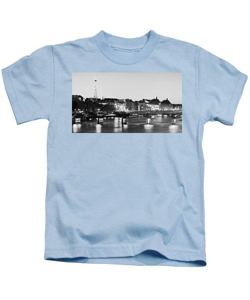 Left Bank At Night / Paris Kids T-Shirt
