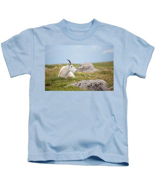 Lie Down In Green Pastures Kids T-Shirt