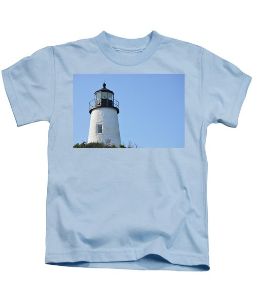 Lighthouse On Clear Day Kids T-Shirt