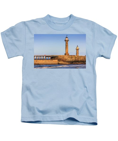 Lighthouses On The Piers Kids T-Shirt