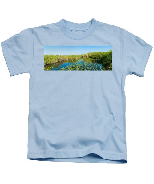 Lily Pads In The Lake, Anhinga Trail Kids T-Shirt