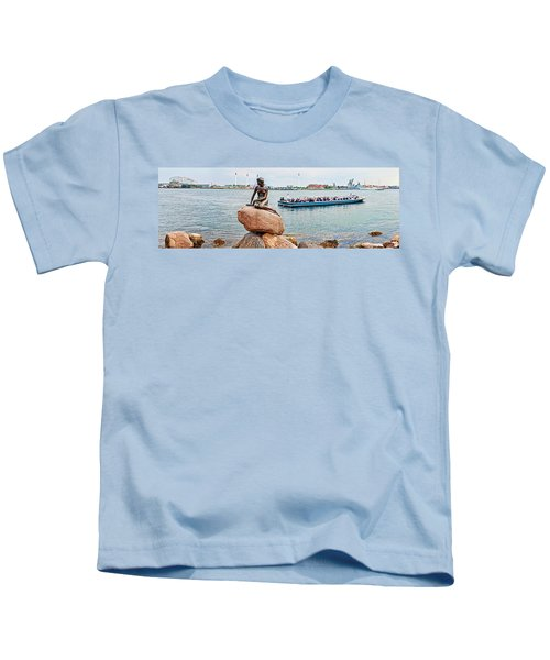 Little Mermaid Statue With Tourboat Kids T-Shirt