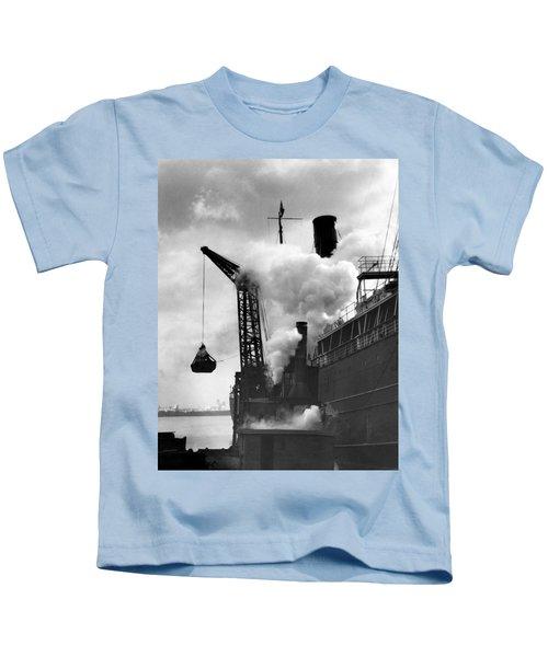Loading Coal On To A Ship Kids T-Shirt