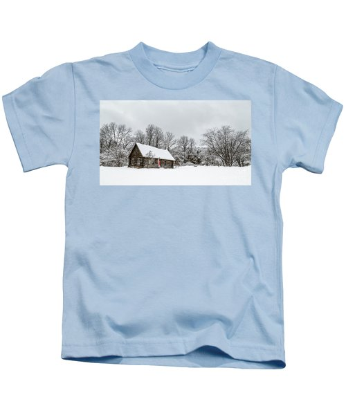 Log Cabin In The Snow Kids T-Shirt