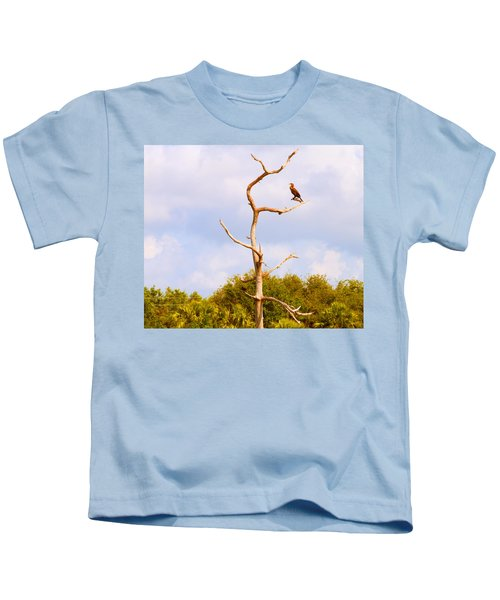 Low Angle View Of A Cormorant Kids T-Shirt