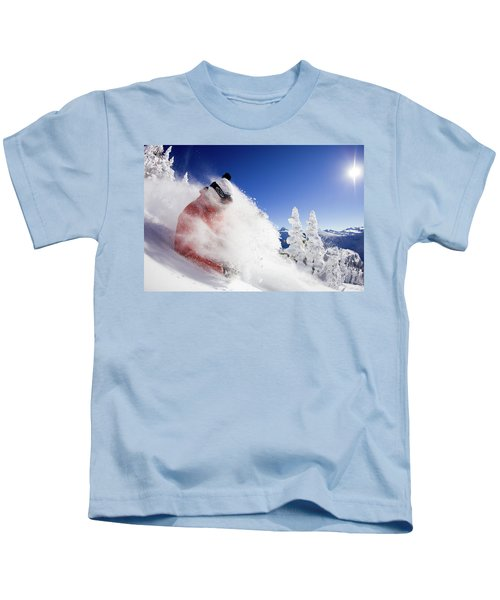 Male Skier Getting A Face Full Kids T-Shirt