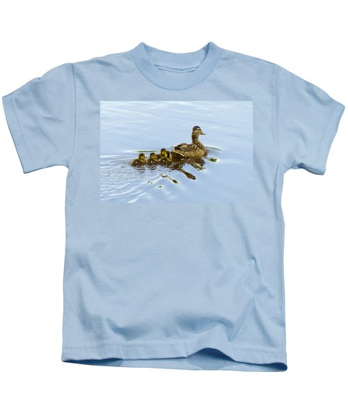 Mallard And Chicks  Kids T-Shirt