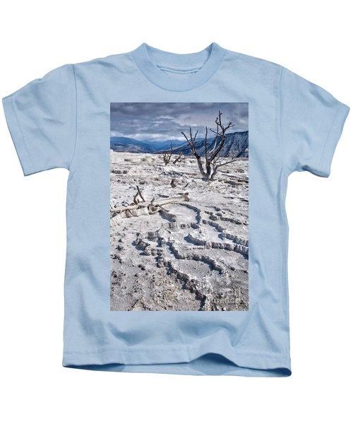 Mammoth Terraces Vertical Kids T-Shirt