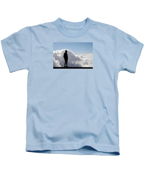 Man In The Clouds Kids T-Shirt