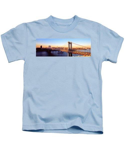 Manhattan Bridge, Nyc, New York City Kids T-Shirt