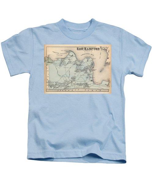 Map Of East Hampton 1873 Kids T-Shirt