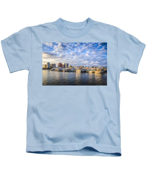Marina In Palm Beach Kids T-Shirt