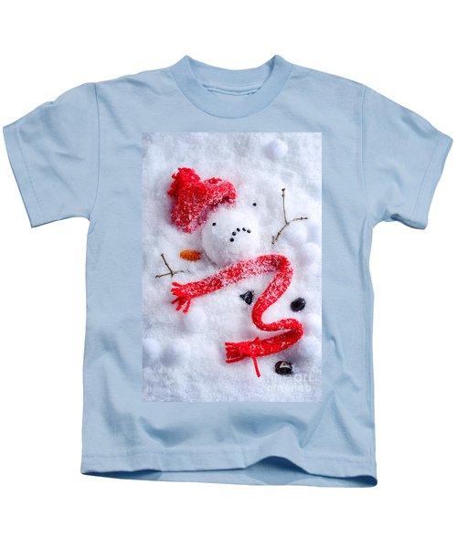 Melted Snowman Kids T-Shirt
