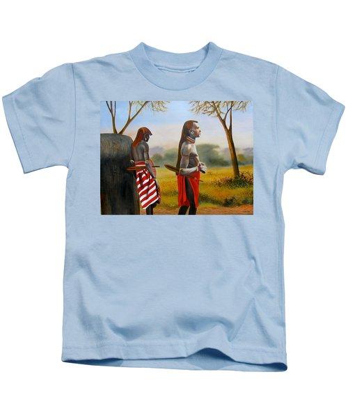 Men Of The Maasai Kids T-Shirt