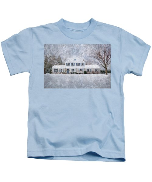 Wintry Holiday Kids T-Shirt