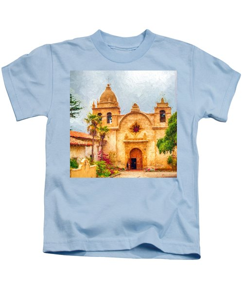 Mission San Carlos Borromeo De Carmelo Impasto Style Kids T-Shirt
