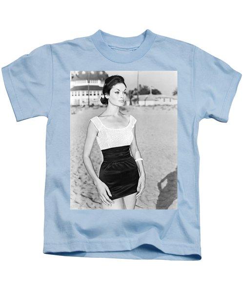 Model In A Mini Skirt Kids T-Shirt