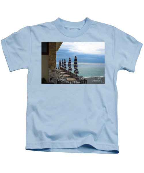 Monterosso Outdoor Cafe Kids T-Shirt
